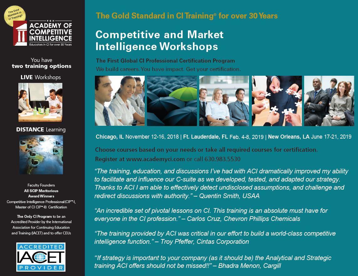 Why You Should Get Aci Certified Academy Of Competitive Intelligence